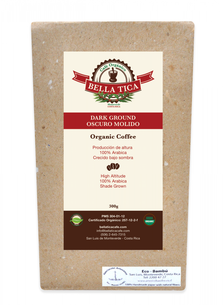 Bella Tica Organic Coffee Dark Ground