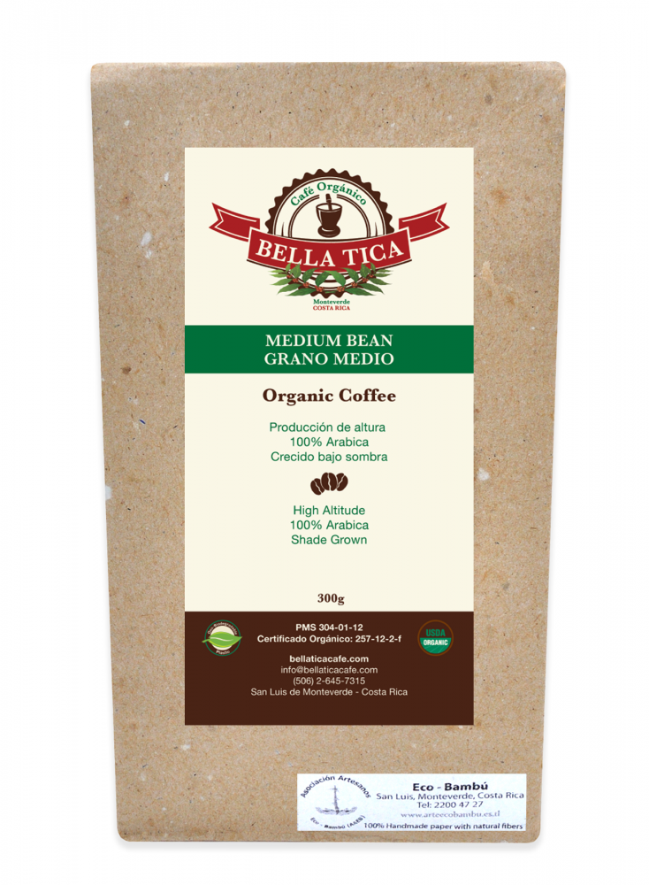 Bella Tica Organic Coffee Medium Bean
